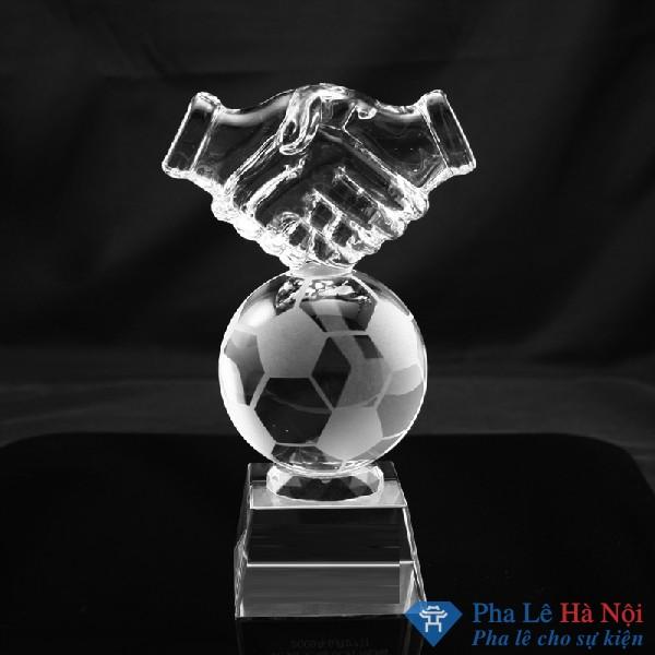 Cúp pha lê thể thao bóng đá cánh hạc