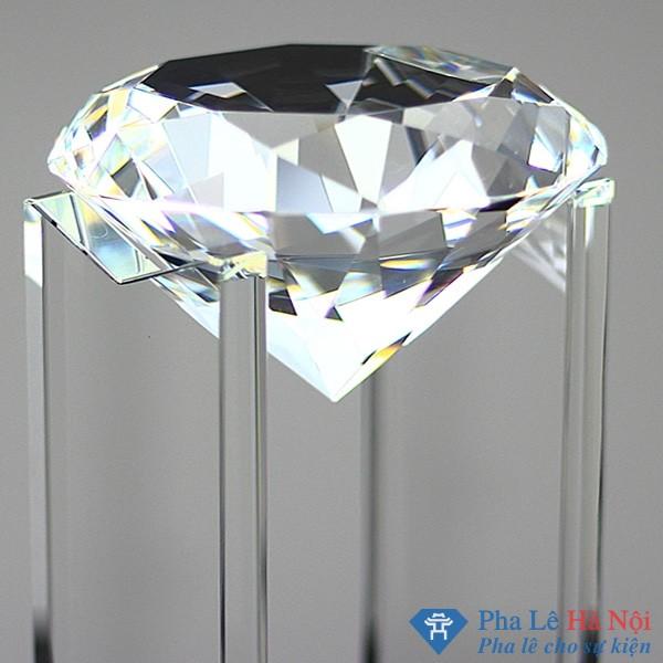 0025011 sky diamond clear crystal - Cúp pha lê kim cương cách điệu