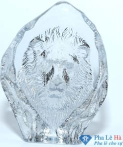 Khối pha lê 3D lồi mặt sư tử