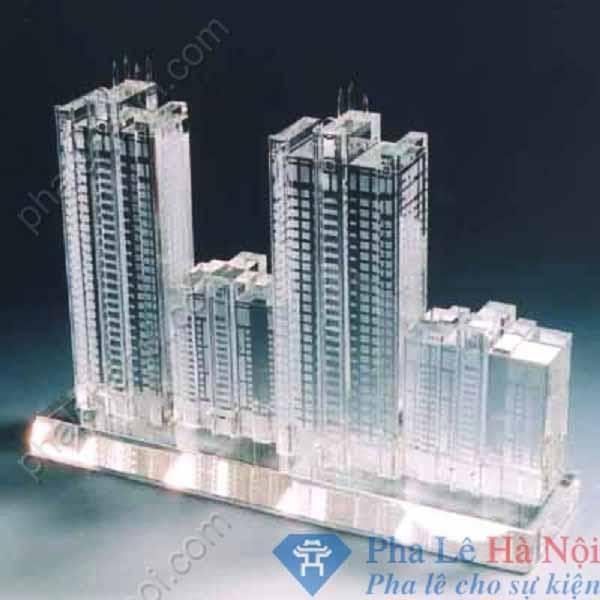Pha lê mô hình tòa nhà phức hợp