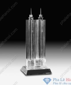 Pha lê mô hình tòa tháp đôi