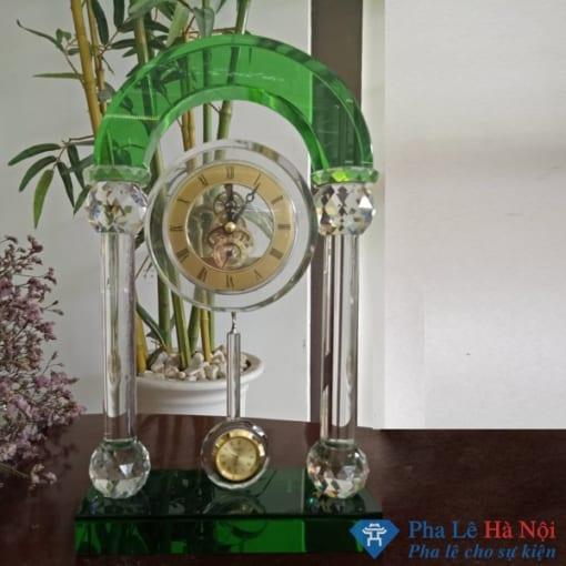 Đồng Hồ Pha Lê Cổng Vòm xanh