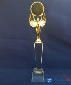 Cúp Pha Lê Hình Thiên Thần mạ vàng