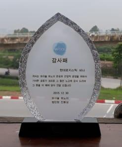 Biểu trưng pha lê bồ đề sần WISOL Hàn Quốc