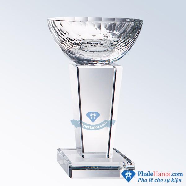 Cup the thao 12 - Cúp pha lê thể thao hình chiếc bát thân vuông