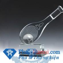 Cup the thao 14 - Cúp Pha Lê Biểu Tượng Vợt Tennis