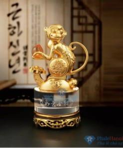 Tuong 12 con giap pha le18 247x296 - Tượng Khỉ Phong Thủy Mạ Vàng Thân Trụ Pha Lê