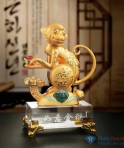 Tuong 12 con giap pha le20 247x296 - Tượng Khỉ Phong Thủy Mạ Vàng Chân Đế Pha Lê