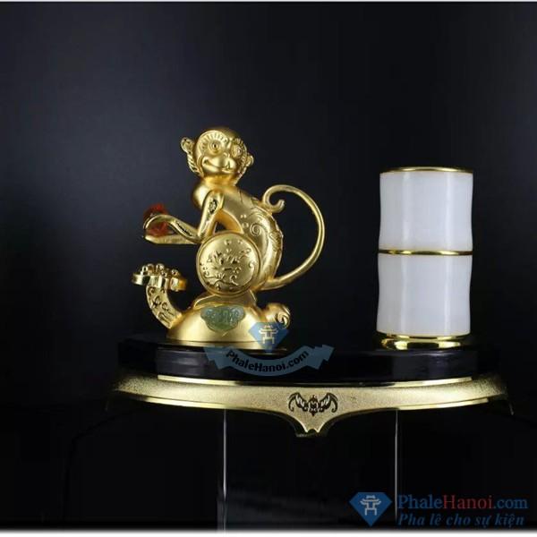 Tuong 12 con giap pha le21 - Tượng Khỉ Phong Thủy Mạ Vàng