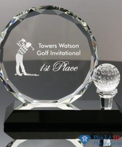 Kỷ niệm chương pha lê thể thao Golf mặt nguyệt