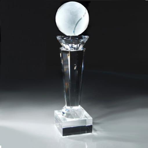 Cúp pha lê thể thao Tennis đính kim cương