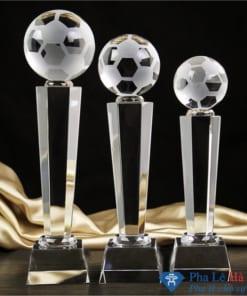 Bộ cúp pha lê thể thao bóng đá thân lục giác