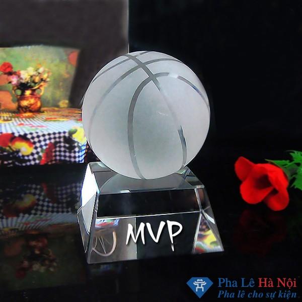 Cúp pha lê quả cầu bóng rổ
