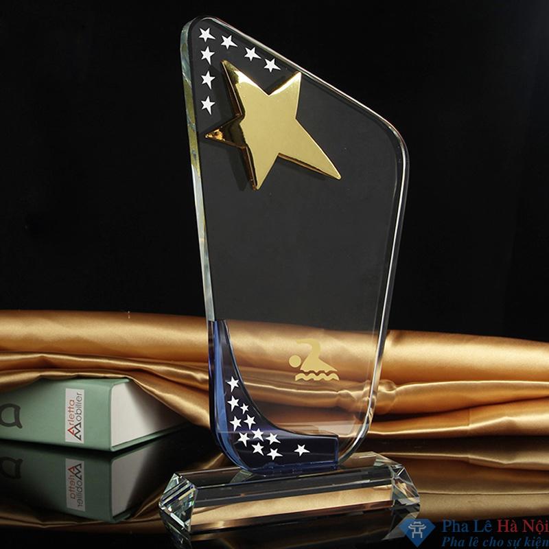 bieu trung hinh thang - Biểu trưng pha lê hình thang sao vàng