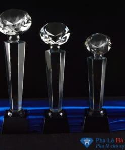 Bộ cúp pha lê vinh danh kim cương 1