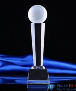 Cúp pha lê thể thao Tennis thân lục giác