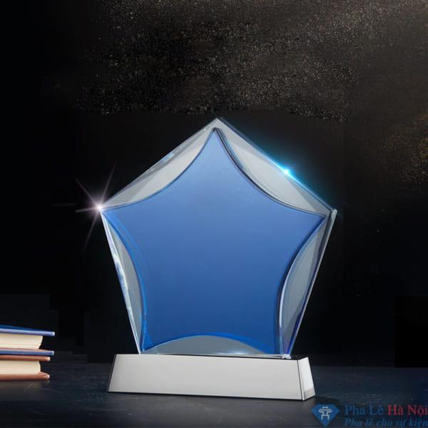 Kỷ niệm chương pha lê ngôi sao xanh