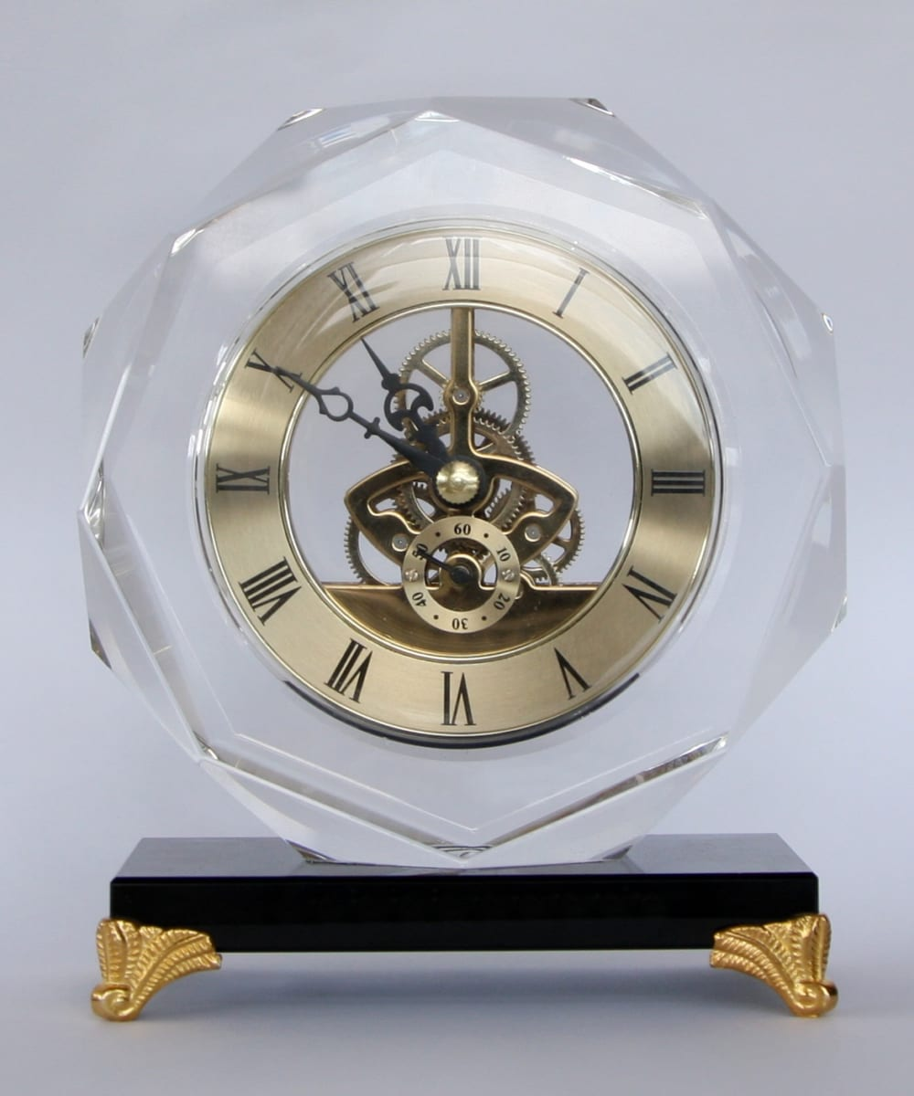 Đồng hồ pha lê tròn vát