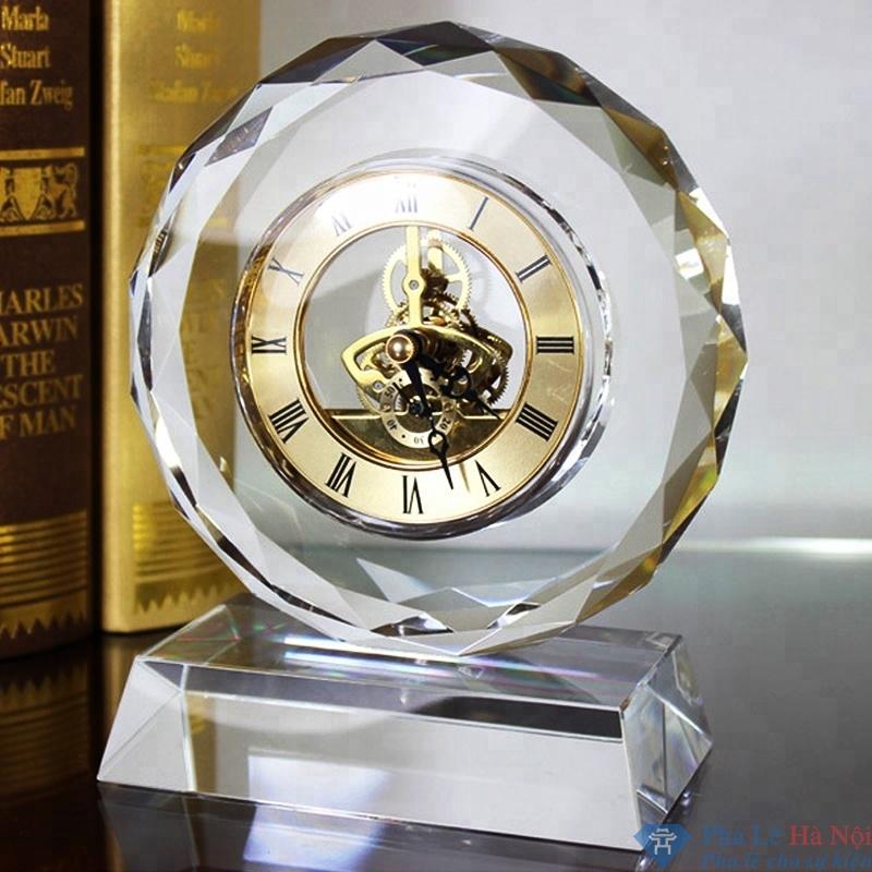 dong ho 4.3 - Đồng hồ pha lê hình tròn