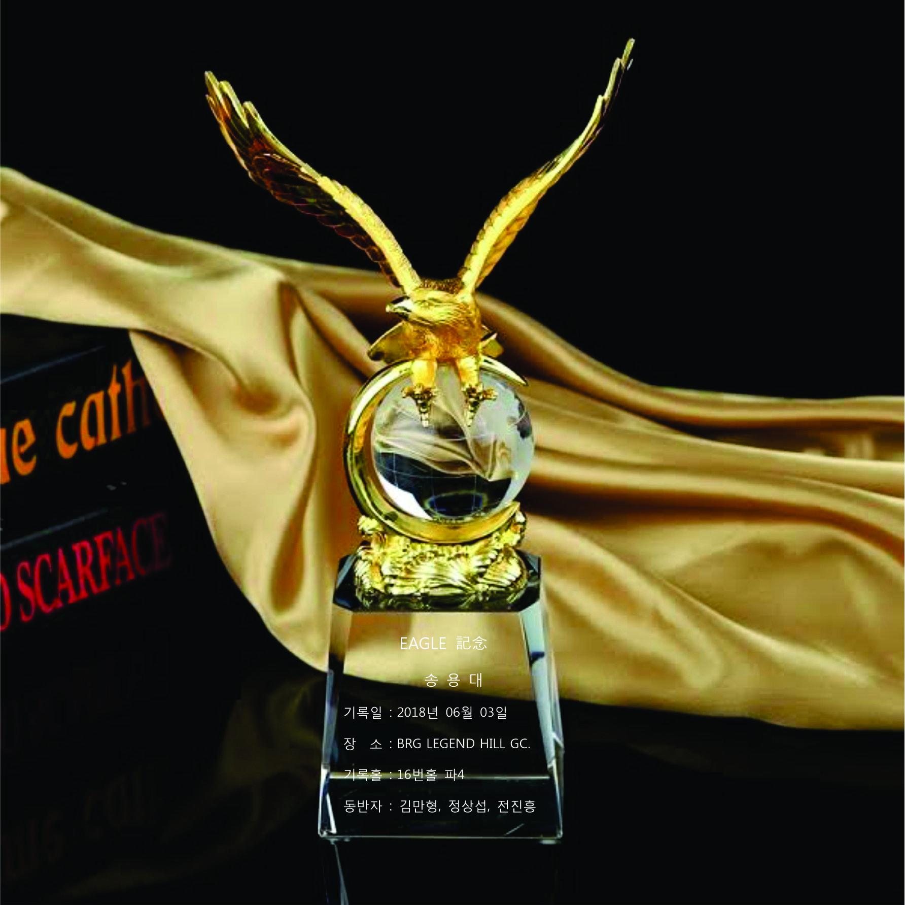 d9b648c3f0b211ec48a3 - Linh vật pha lê đại bàng mạ vàng