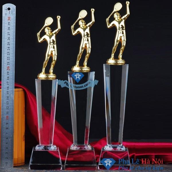 f1403a12f048f9501350d1f26079dffd1 - Bộ cúp pha lê thể thao người chơi tennis mạ vàng