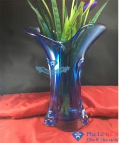 Lọ hoa pha lê xanh