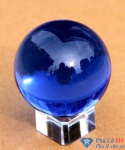 Quả cầu pha lê phong thủy màu xanh dương