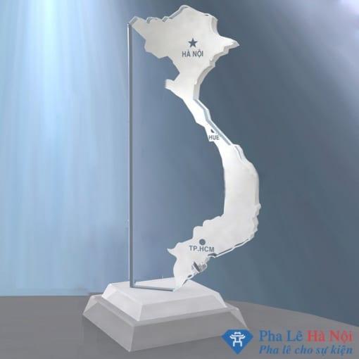 Kỷ niệm chương pha lê bản đồ việt nam