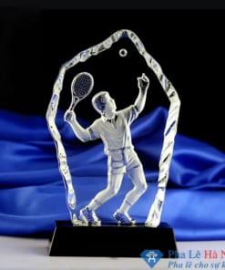 Kỷ niệm chương pha lê thể thao tennis 3D