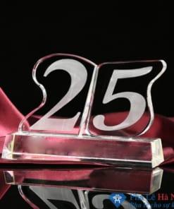 Bộ số pha lê kỷ niệm 25 năm