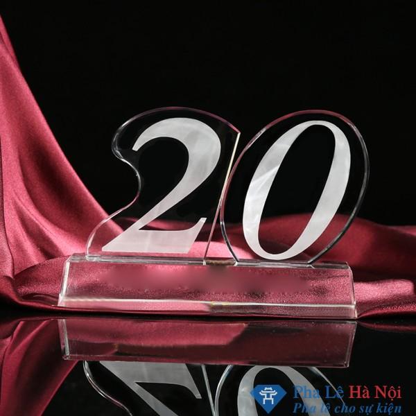 Bộ số pha lê kỷ niệm 20 năm