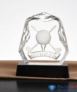 Kỷ niệm chương pha lê thể thao golf 3D hình quả golf