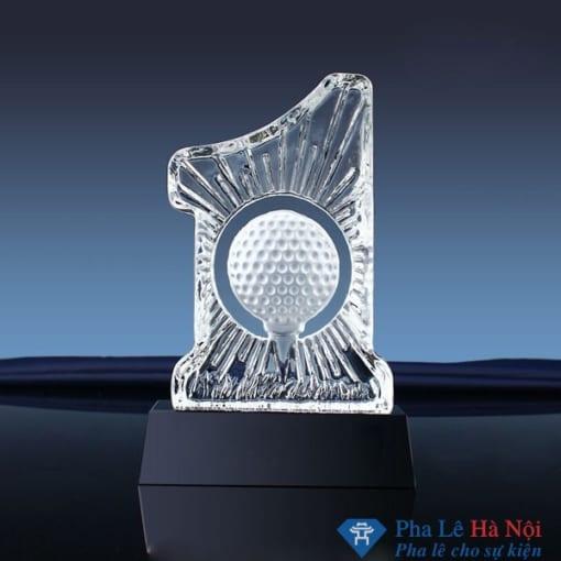 Cúp pha lê thể thao golf 3D hình số 1