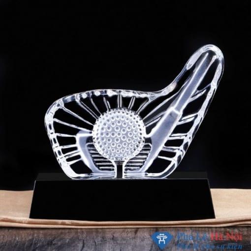 Kỷ niệm chương pha lê golf 3D hình gậy golf