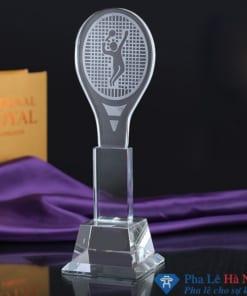Cúp pha lê thể thao hình vợt tennis