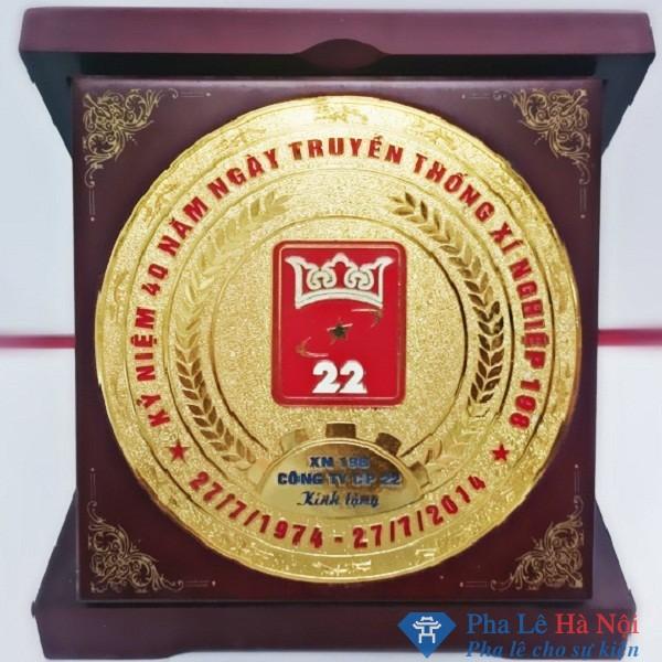 Kỷ niệm chương pha lê gỗ đồng 10