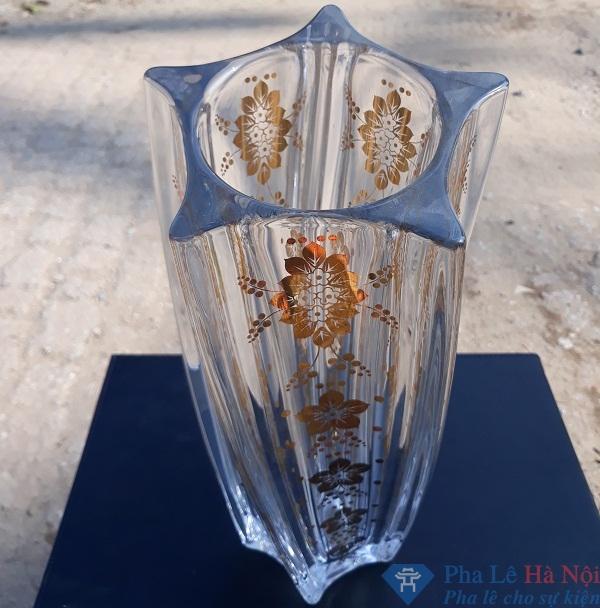 20180921 150758 - Lọ hoa pha lê tiệp khảm vàng 2