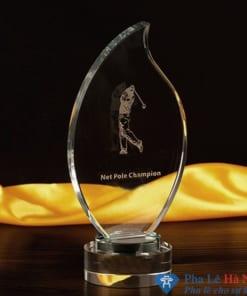 Kỷ niệm chương pha lê thể thao golf hình ngọn lửa
