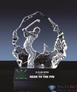 Kỷ niệm chương pha lê golf 3D số 3