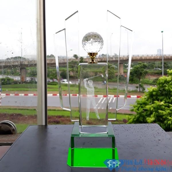 Cúp pha lê thể thao golf 6
