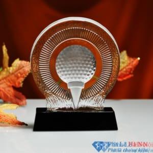 Kỷ niệm chương pha lê golf 3D hình quả golf 2