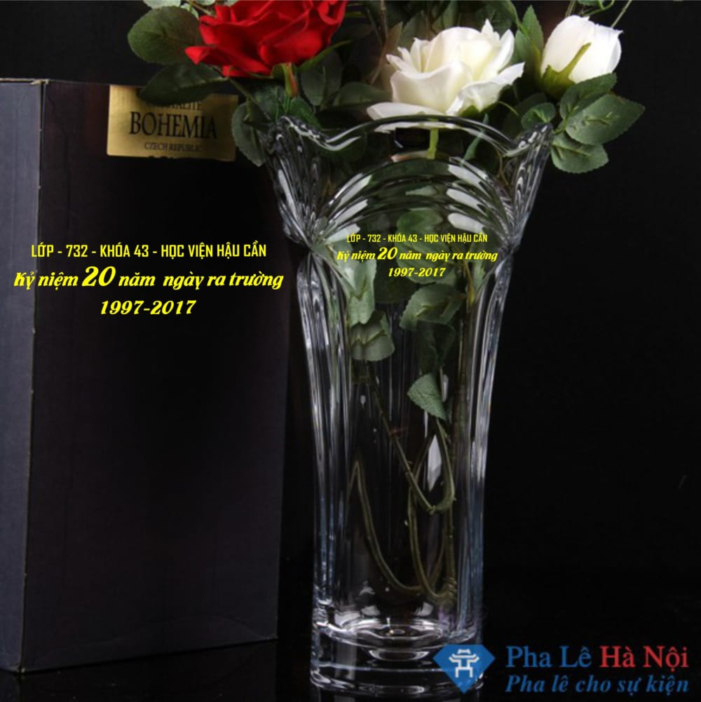 Lọ hoa pha lê tiệp 20/11 số 60