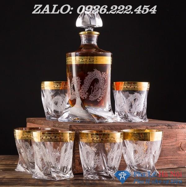 72c4d31b1560f63eaf71 - Bộ bình rượu pha lê khảm rồng mạ vàng số 32