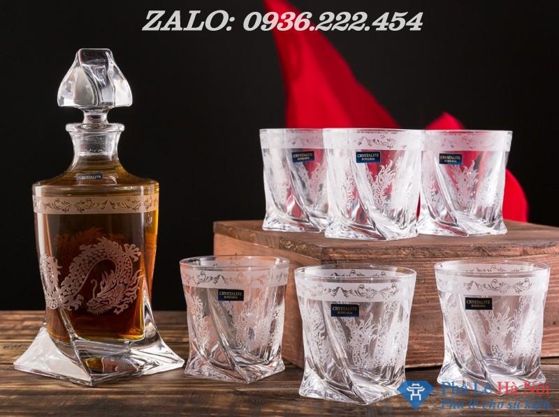 kham rong 2 - Bộ bình rượu pha lê khảm rồng số 33