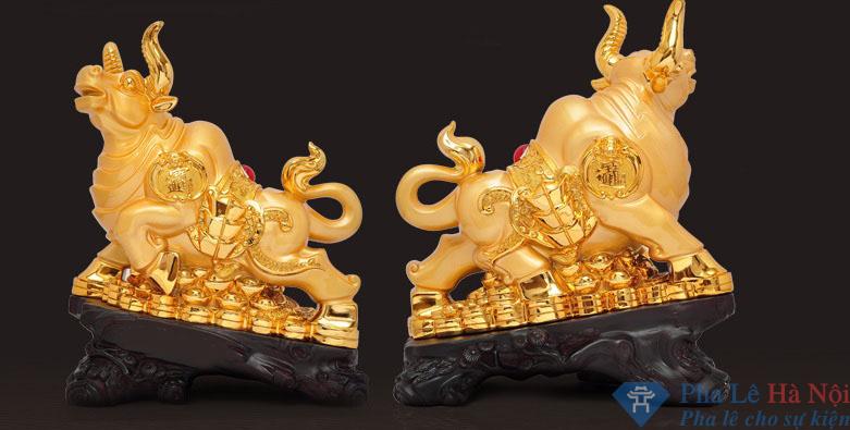 Trâu vàng tượng linh vật phong thủy